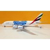 Emirates Airlines Expo 2020 Blue Mobility Baubles A380 A6-EOC