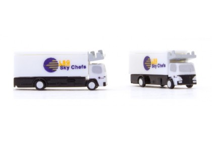 2PCS Catering Truck 1:400